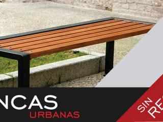 Bancas sin respaldo:  de estilo  por Concepto Mobiliario Urbano