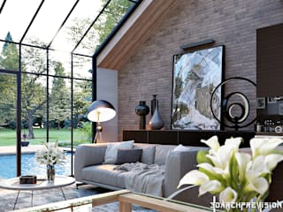 Sunny Room Interior & Landscape Visualization Scandinavian style living room by 3DArchPreVision Scandinavian