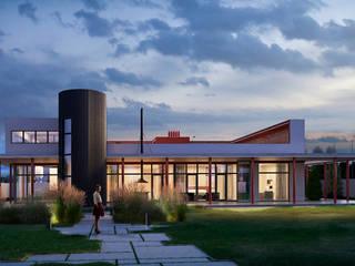 Индивидуальный жилой дом BO_House: Загородные дома в . Автор – CNTR Architects