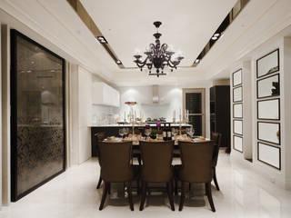 Salle à manger de style  par 雅群空間設計, Classique