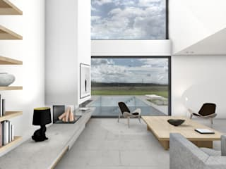 HAUS KII:  Wohnzimmer von BENJAMIN VON PIDOLL I ARCHITEKTUR