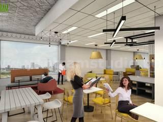 Architectural Walkthrough Visualization of Interior Office Space by Yantram Interior Design Firms, Perth - Australia Yantram Architectural Design Studio Modern