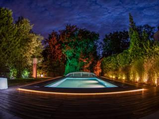 Individuelle Beleuchtung eines Gartens von Moreno Licht mit Effekt - Lichtplaner Ausgefallen