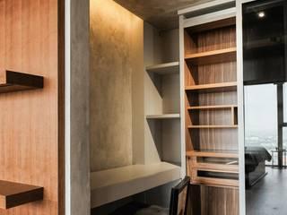 Pondok Indah Residence Ruang Studi/Kantor Gaya Industrial Oleh FIANO INTERIOR Industrial
