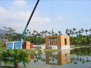 好山好水好安全,綠建築三層日式別墅 根據 安居住宅有限公司 日式風、東方風