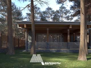 Баня с гостевой комнатой: Дома в . Автор – Архитектурное бюро 'Маринисты'