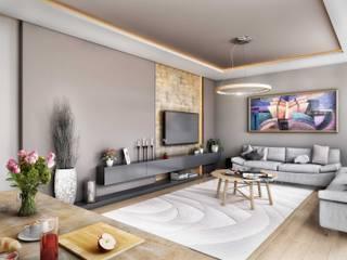 ANTE MİMARLIK  – Tarabya Konutları:  tarz Oturma Odası