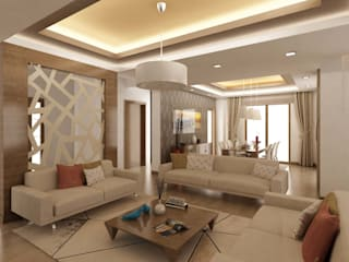 ANTE MİMARLIK Salones de estilo moderno Beige