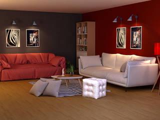 living room من EL Mazen For Finishes and Trims بحر أبيض متوسط