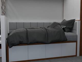 Diseño Dormitorio Estudiante: Dormitorios de estilo  por DIS.OLIVER QUIJANO