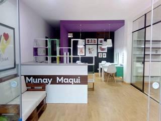 Spa Munai Maqui: Oficinas de estilo moderno por DIS.OLIVER QUIJANO