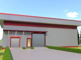 อาคารโกดังจำลอง 3D โดย บริษัท พี นัมเบอร์วัน ดีไซน์ แอนด์ คอนสตรัคชั่น จำกัด โมเดิร์น