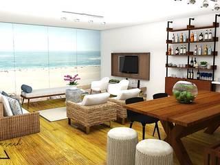 Salones de estilo moderno de Farach Interior Design Moderno