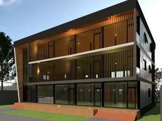 อพาร์ทเม้นท์จำลอง 3D โดย บริษัท พี นัมเบอร์วัน ดีไซน์ แอนด์ คอนสตรัคชั่น จำกัด โมเดิร์น