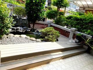 Estanques de jardín de estilo  de 新綠境實業有限公司, Asiático