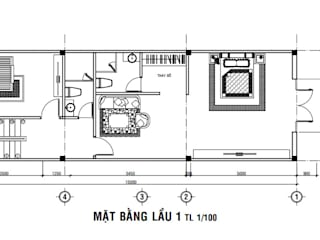 Office buildings by Công ty Thiết Kế Xây Dựng Song Phát, Modern