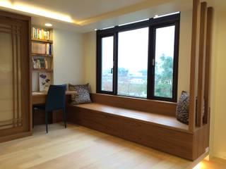 住宅:木:  臥室 by 先勁室內裝修有限公司