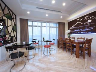 傳藝渡假會館:  餐廳 by 先勁室內裝修有限公司