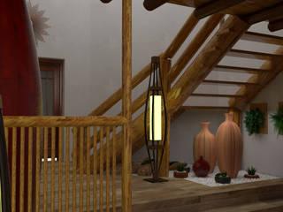 Ingreso y Sala de Espera: Escaleras de estilo  por DIS.OLIVER QUIJANO