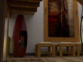 Ingreso y Sala de Espera: Salas / recibidores de estilo rústico por DIS.OLIVER QUIJANO