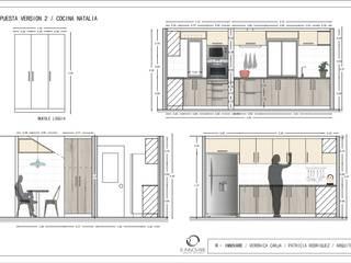 Cocina Puente alto:  de estilo  por R-Innovare / Diseño de interiores y Arquitectura / Santiago y Viña del mar