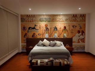 vinilos habitación: Habitaciones de estilo  por vinilos dkorativos