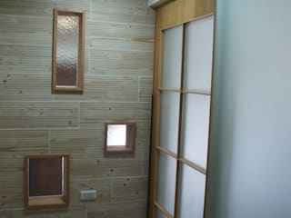 houseda Asian style corridor, hallway & stairs Tiles Wood effect