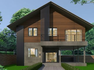 บ้านจำลอง 3D คุณอนุกูล โดย บริษัท พี นัมเบอร์วัน ดีไซน์ แอนด์ คอนสตรัคชั่น จำกัด ผสมผสาน