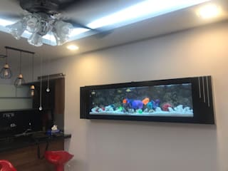 Sparkle Black 7 feet Wall Mounted Aquarium:   by Seazone Innovative Sdn Bhd