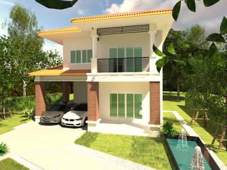 บ้านจำลอง 3D โดย บริษัท พี นัมเบอร์วัน ดีไซน์ แอนด์ คอนสตรัคชั่น จำกัด ผสมผสาน