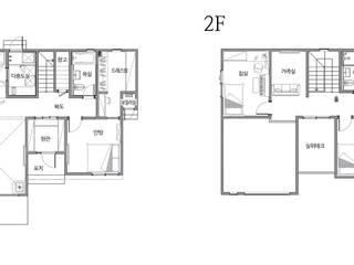 앤티크한 느낌의 목조주택 (경기도 의왕시): 더존하우징의 현대 ,모던