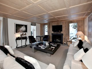 Chalet in Courchevel 1850 Antoine Chatiliez Modern Living Room