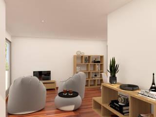 Sala 1: Salas de estar  por Filipa Sousa Interior Design