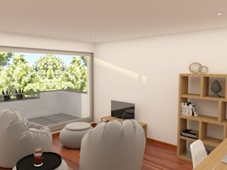 Sala 2: Salas de estar  por Filipa Sousa Interior Design