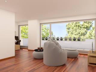 Sala 3: Salas de estar  por Filipa Sousa Interior Design