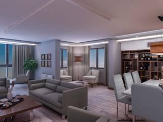 ANTE MİMARLIK  – Burak Ö. Evi:  tarz Oturma Odası