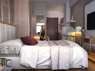 Apartemen Eston Park Tipe Studio - Jatinangor Bandung:  Kamar tidur kecil by Ectic