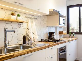 Маленькие кухни в . Автор – Luciana Ribeiro Arquitetura, Скандинавский