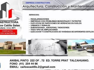 Arquitectura, Construccion y Mantencion.  SERVICIOS: Espacios comerciales de estilo  por Carlos Castillo Salas ARQUITECTO