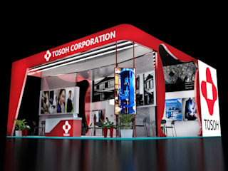 Tosho Exhibition at Mumbai expo fair: industrial  by 49 designs ,Industrial