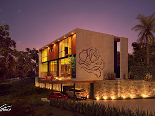 Paulo Stocco Arquiteto Country house Concrete