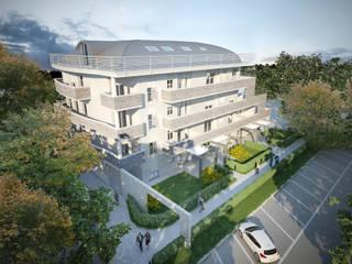 Prospetto Ovest: Condominio in stile  di Studio Corbetta architettura e design