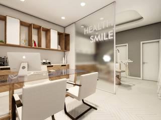 Consultório com originalidade de sobra : Espaços comerciais  por Vortice Arquitetura