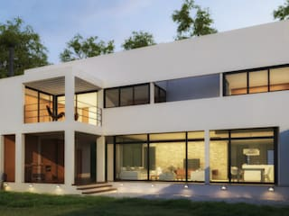 Patio Exterior , el patio mayor : Casas ecológicas de estilo  por Rr+a  bureau de arquitectos