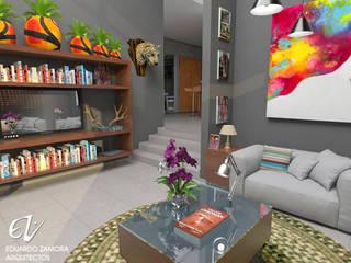 Fachada Resiencia: Salas de estilo  por Eduardo Zamora arquitectos,