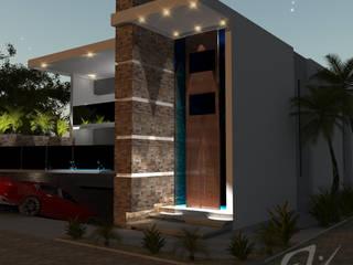 Diseño residencia: Casas de estilo  por Eduardo Zamora arquitectos