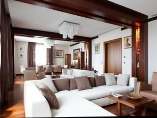 Квартира на Ленинском проспекте Гостиная в стиле модерн от Архитектурная мастерская Нонны Гудиевой Модерн