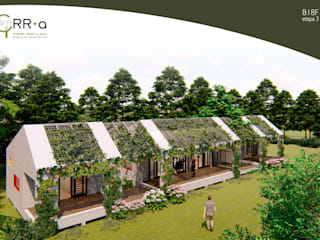 3° etapa    crecimiento terminado   100m2 : Casas prefabricadas de estilo  por Rr+a  bureau de arquitectos