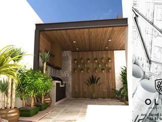 "AREA ""TERRAZA"" Balcones y terrazas de estilo moderno de OLLIN ARQUITECTURA Moderno Madera Acabado en madera"