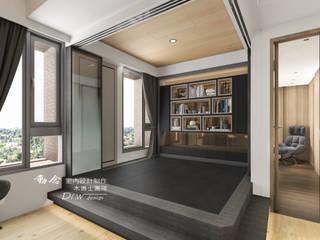 和室/臥室/書房/架高木地板/鋁框拉門:  小臥室 by 木博士團隊/動念室內設計制作